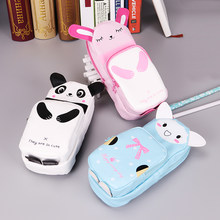 1PC Super Big Animal Pencil Case PU Leather Cute School Supplies Stationery Gift School Cute Pencil Box Pencil Bag(China)