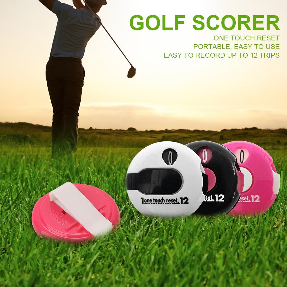 Mini Golf Score Counter PP Plastic Glove Hat Clip Style One-touch Reset Scorekeeper Scoring Tool Golf Supplies