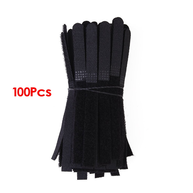 Approximately 100pcs Cable Ties Black Straps