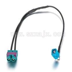 JX Antenne verlängerungskabel Twin Fakra stecker auf Eine Fakra Buchse umwandlung Kabel Zwei Dual FAKRA Z männlichen zu einem Fakra Radio antenne