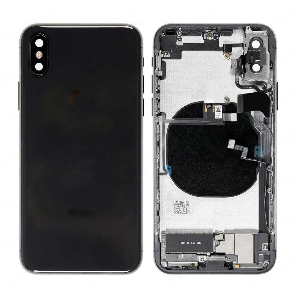 For iPhone X Battery Back Cover Rear Door Housing Frame Assembly With Small Parts