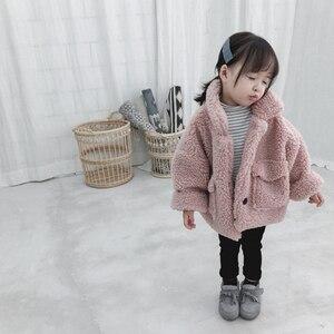 Image 1 - 女の子ジャケット厚く暖かい子供秋冬服子供男の赤ちゃんのため上着女の子コート2020幼児80〜綿130