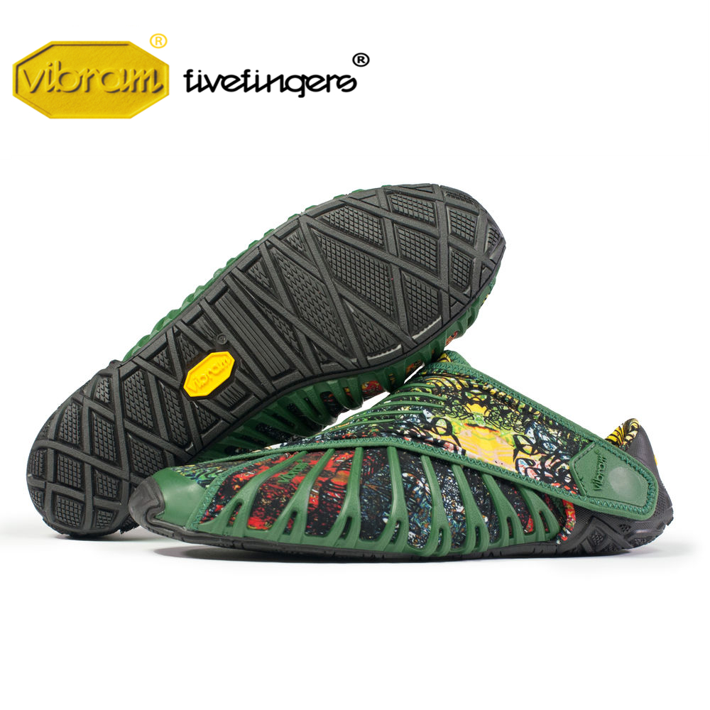Vibram FUROSHIKI Stretch Fabric women wrap Shoes Walking Sports Super Light Five Fingers Running Portable folding Sneakers 1