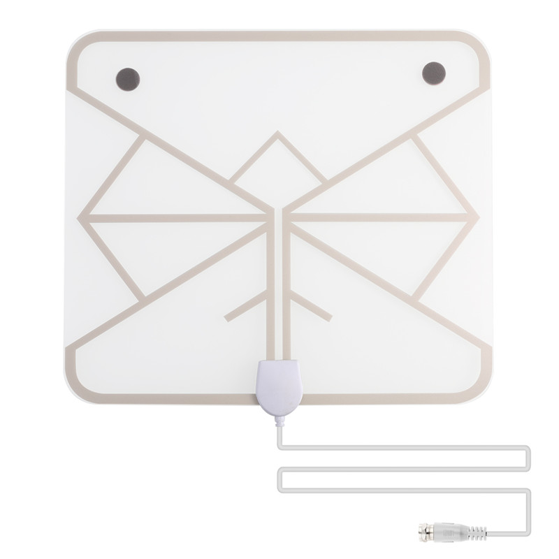 SOONHUA Amplified Indoor TV Antenna Digital HDTV Antenna 50 Miles Range HD Aerial Freeview for Life Local Channels Receiver