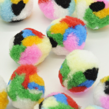 30 Piece/lot Soft Cat Toy Balls Kitten Toys Pompon Ball Assorted