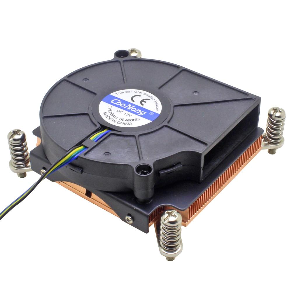 1U Server Computer CPU Cooler Copper Heatsink For Intel Xeon LGA 2011 X99 2066 Workstation Industrial Active Cooling