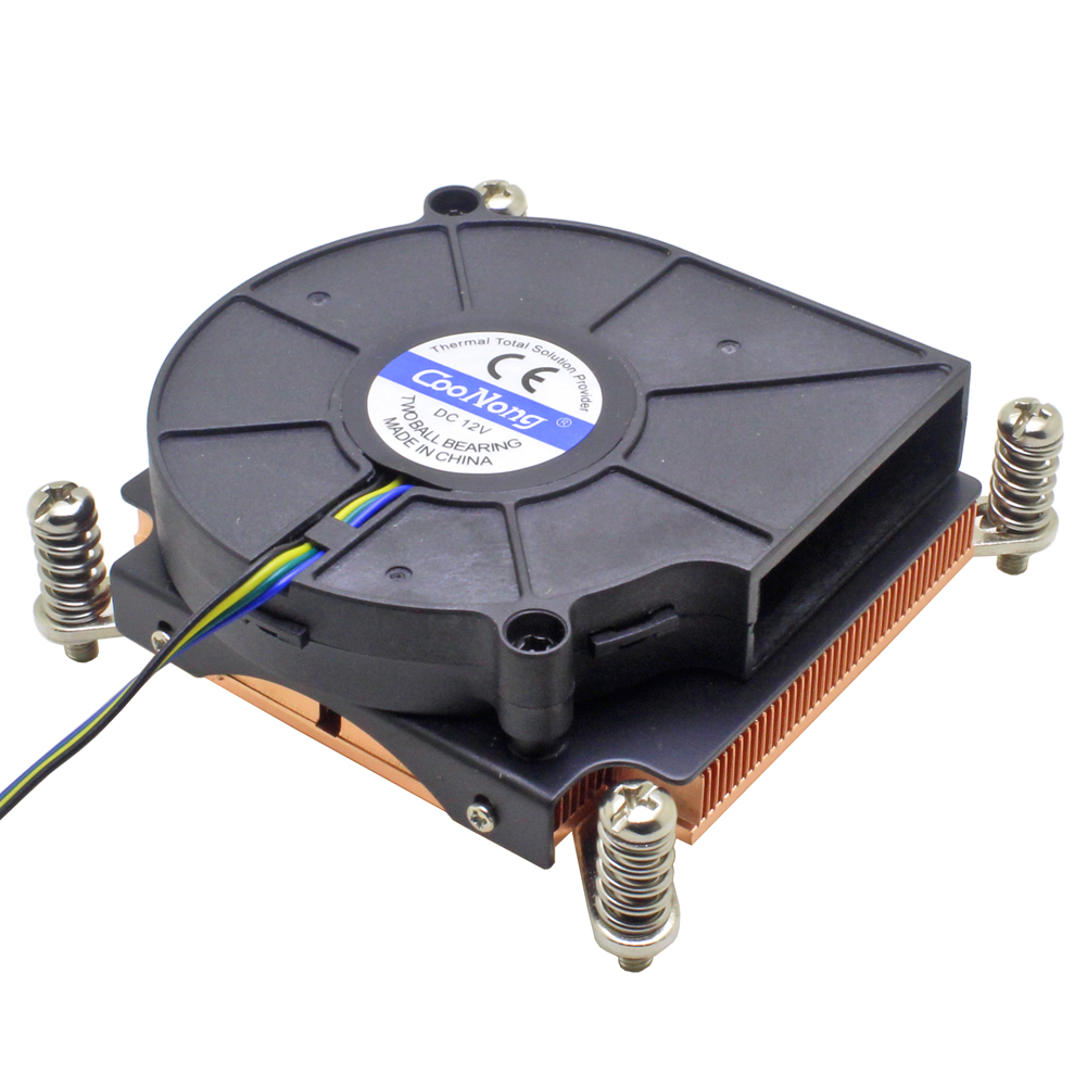 1U Server Computer CPU Cooler Copper Heatsink For Intel Xeon LGA 2011 X99 2066 Workstation Industrial Active Cooling(China)