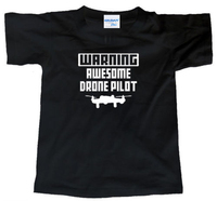 2018 Uomini Maglietta Magliette di Modo di avvertimento Impressionante Drone Pilota (Ar Quadcopter Kit Telecamera Uav Rc Helicopter) Tee Shirt