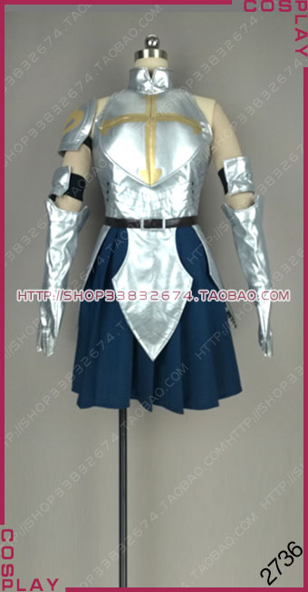 Fairy Tail: Dragon Cry S Class Mage Team Natsu Erza Scarlet Sliver Blue Dress Cosplay Costume S002