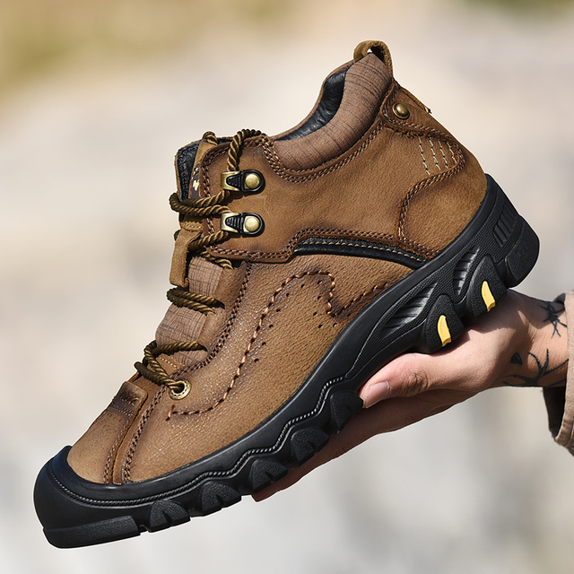 c07b0b9ec6d 2019 new fashion casual outdoor men s hiking shoes high quality winter plus  velvet cold warm high to help walking big shoes