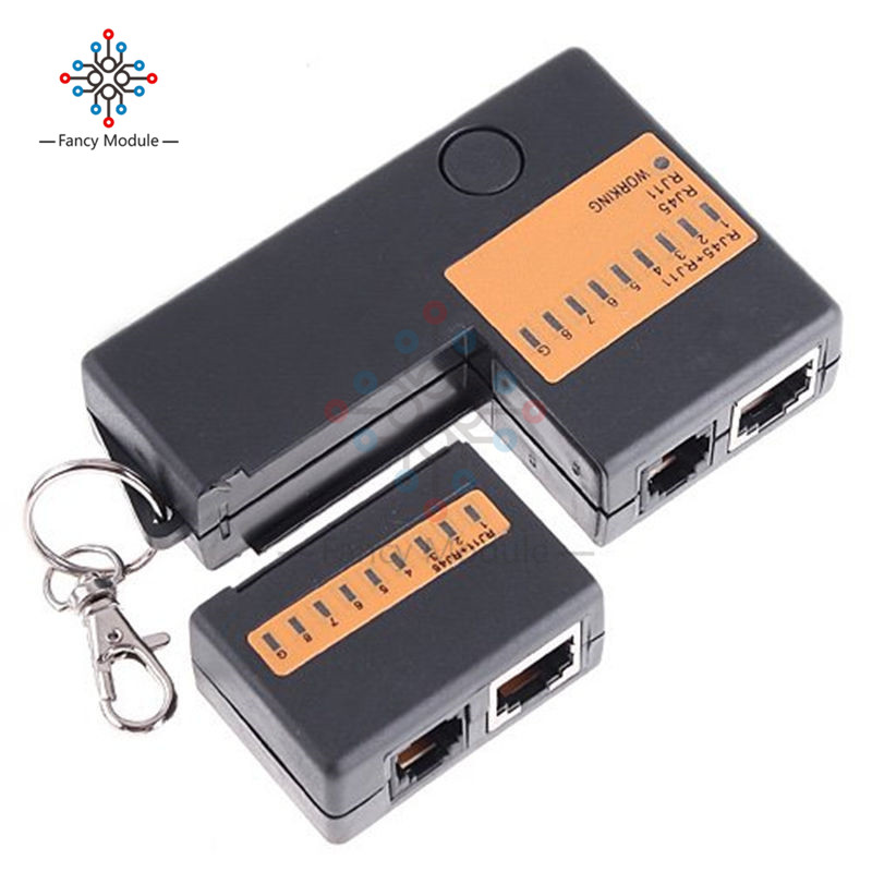 Portable Mini Network Cable Tester Tools RJ45 RJ11 RJ12 Network LAN Cable Tester With Key Chain