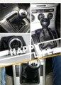 5 velocidad negro pu cuero Gear shift Knob palo para Passat B6 diámetro interior Tamaño del agujero 13mm