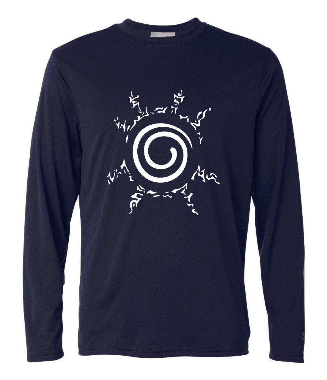 Popular funny Uzumaki Naruto hipster t-shirt men 2019 hip-hop long sleeve camisetas casual cotton harajuku brand clothing homme