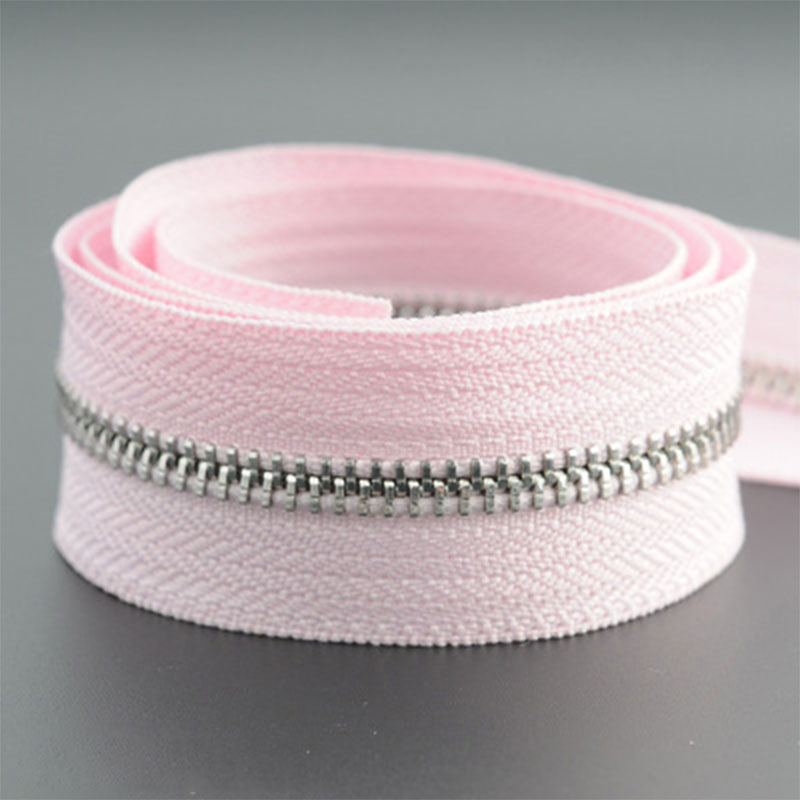 5 м/лот 5# Нейлон молния DIY ручной работы сумки палатка рюкзак домашний текстиль молнии и аксессуары - Цвет: pink silver