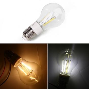 E27 ACDC12V 3W Filament Glass Transparent Transparent Light Lamp Bulb Smart IC Real Power3W High Brightness Lampada LED Bombill jewelry making