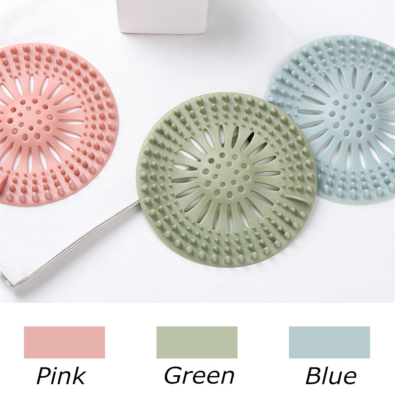 Sewer Outfall Strainer Kitchen Sink Filter PVC Drain Hair Catcher Cover Lavabo Kitchen Gadgets Accessories 5 Colors