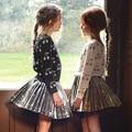 5 unids/lote Niñas Suéter Cereza Impreso Pullover Manga Larga Niños Bebé Suéteres Ropa de Los Niños