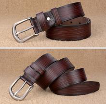 Vintage Design Genuine Leather Pin Buckle Belt For Men