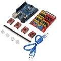 Escudo CNC Kit Motorista Com Dissipador de Calor Para Arduino UNO R3 Board 4xA4988 Gravador Impressora 3D Frete Grátis
