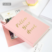 Never Leather Cover Thick Notebook Pink Notebooks And Journals Line Planner Gift Box Packaging Office Supplies Stationery Store
