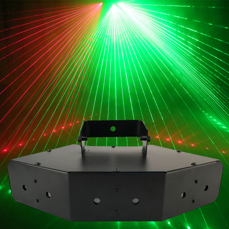 YSH 6 Beam Laser Stage Light DMX Scan Lighting Red Blue Green Light Fit For DJ Bar Home Party Wedding Disco KTV Great Effect