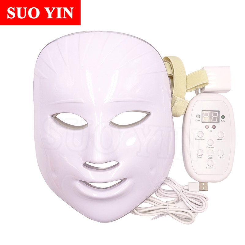 NEW Korean Technology LED Facial Mask Anti acne Skin Rejuvenation Home Use Beauty Therapy Instrument Face Skin Care Tool