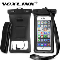 VOXLINK Universal Waterproof Mobile Phones Air Bag For Samsung Inflatable Sealed Phone Pouch With Armband For