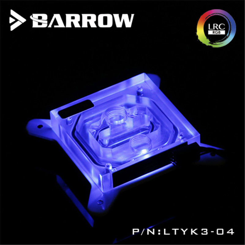 Barrow For Intel CPU Acrylic Water Head 0.4MM Water Way Micro Channel For INTEL LGA-115X(1150 1151 1155 1156) CPU Water Block barrow hard tube water cooling kits with 240mm copper radiator cpu block led fans reservoir for amd 3 intel lga 1151 lga 2011