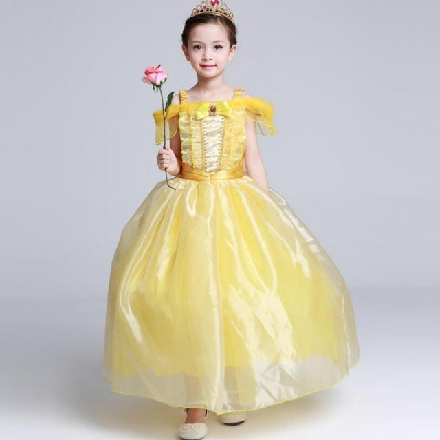 Film Prinzessin Bell kleider Blumen Mädchen Kleid Schönheit und Das ...