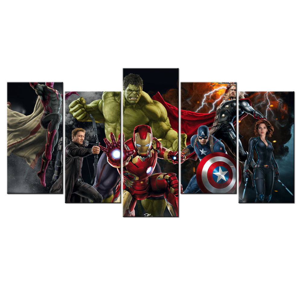 popular painting wall mural avengers buy cheap painting wall mural modern giclee canvas print hd picture marvel s the avengers sci fi movies canvas wall poster