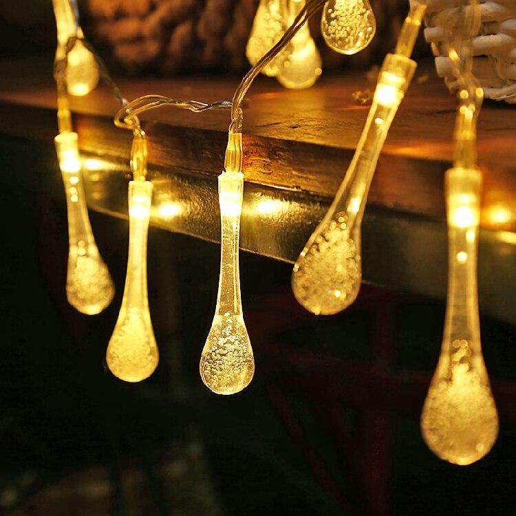 1 pièces 6 m 40 Led lumières décoratives de vacances lumières néon étoiles ornements lumières goutte de pluie lumières forThanksgiving