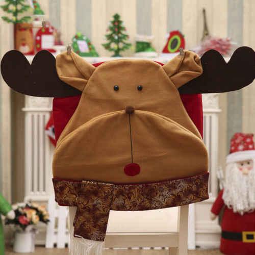 Кресло Санты Чехлы Рождественский обеденный стол Кухня задняя крышка Slipcover Декор США
