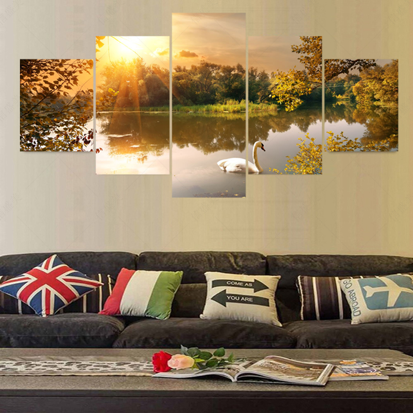 Buy 5 Piece Modern Canvas Art Cuadros Decoracion Painting Wall Pictures For Living Room Home Decor Picture Oil Unframe Painting 5063 for $8.82 in AliExpress store