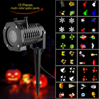 12pcs Patterns Outdoors laser Projector Lamp Christmas Holiday Party Decoration Landscape Projector led Stage Lights Garden Lamp