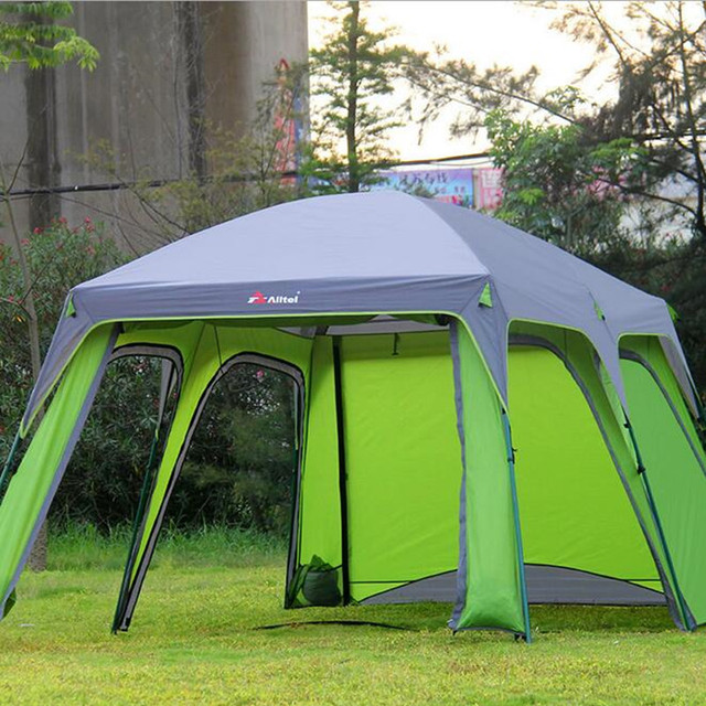 Outdoor C&ing Tent 5-8 Persons Large C& Sun Tents C&ing Family Beach Travel Tent & Outdoor Camping Tent 5 8 Persons Large Camp Sun Tents Camping ...