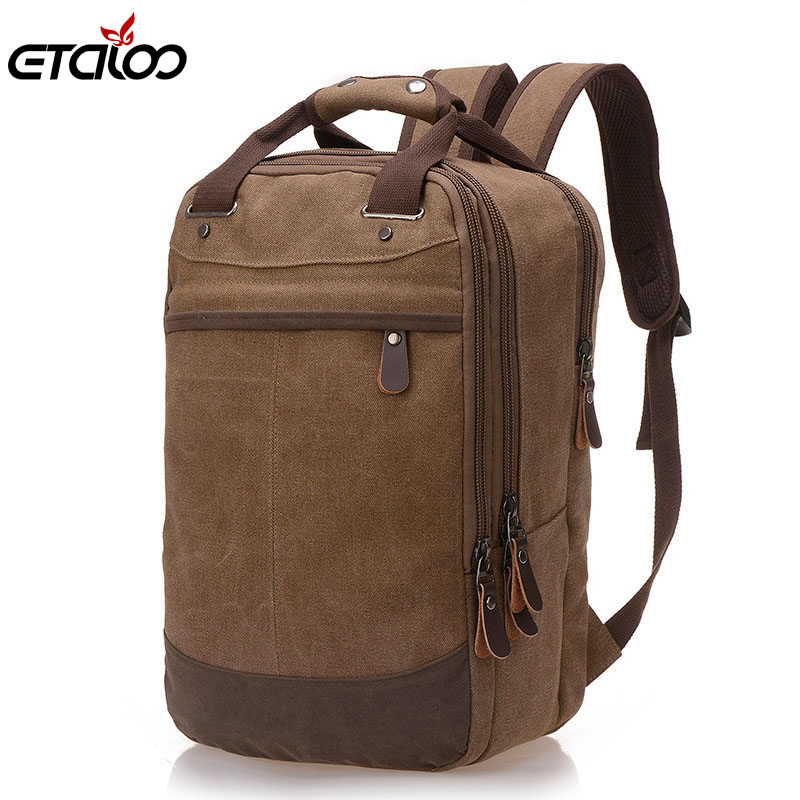 цена на Men Bag Casual Canvas Laptop Backpack Man Computer Backpack Student Leisure Shoulder bags School Bag