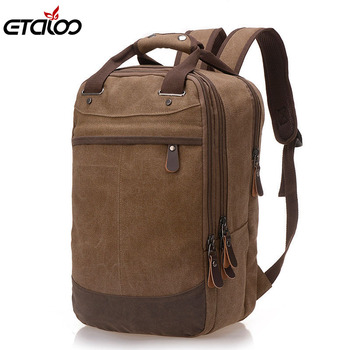 Men Bag Casual Canvas Laptop Backpack Man Computer Backpack Student Leisure Shoulder bags School Bag three box mens backpack fashion pu leather backpack leisure student school bag for women men vintage casual laptop business bags