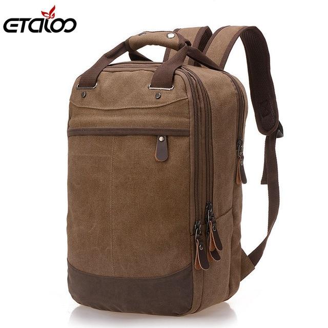 Men Bag Casual Canvas Laptop Backpack Man Computer Backpack Student Leisure  Shoulder bags School Bag aa9d3718222