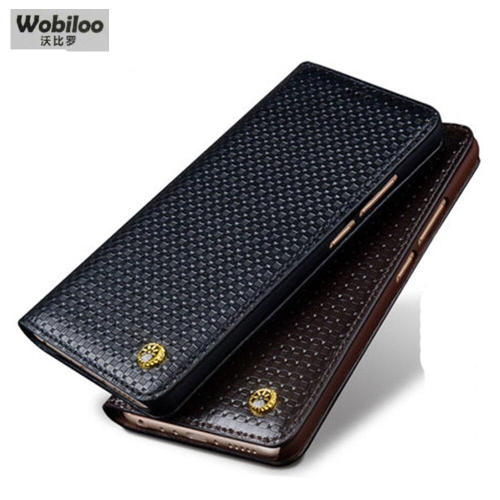 bilder für Wobiloo Geschäfts Schlag-fall für Meizu MX6 Luxus Echtem Leder fall Schutzhülle Telefon Zubehör Tasche für MEIZU MX6 MX 6