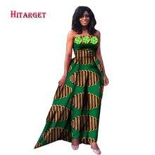2017 New fashion Fashion Africa Cotton Wax Print Romper African Bazin Riche Jumpsuit For Women Dashiki Fitness WY867