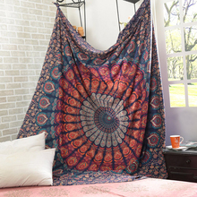 International Indian Hippie Bohemian Psychedelic Peacock Mandala Wall Hanging Bedding Tapestry macrame wall hanging