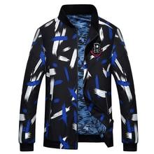 Brieuces 2018 Spring and Autumn Mens plus size jacket loose baseball uniform 2XL-9XL