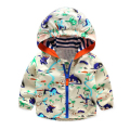 80-120cm Cute Dinosaur Outdoor Spring Children Clothing Beach Clothes Breathable Kids Boys Jacket Outerwear & Coats