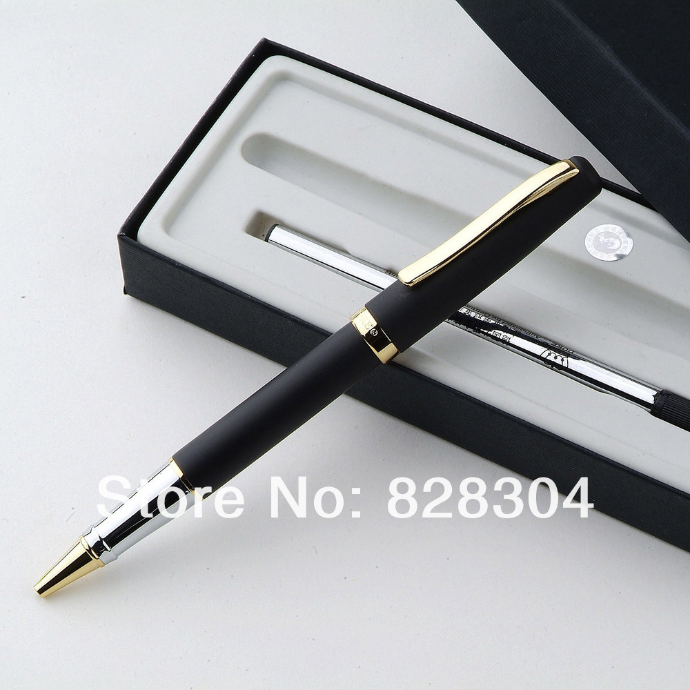 Duke pen 209 gold and black international standard refill roller ball pen Office writing gift pen point systems migration policy and international students flow
