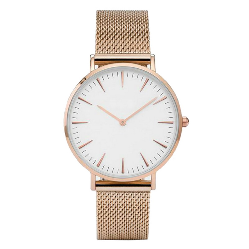 FUNIQUE Luxury Clock Watch Alloy Stainless Steel Mesh Band Watch Lady Quartz Wrist Gauge Rose Gold Color Strap Women Watch 38mm rigardu fashion female wrist watch lovers gift leather band alloy case wristwatch women lady quartz watch relogio feminino 25
