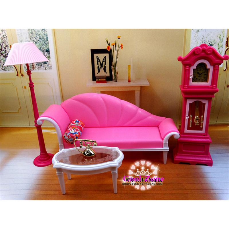 Aliexpress Buy Miniature Luxury Living Room Furniture Set for Barbie Doll House Best