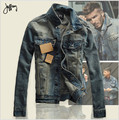 2016 Autumn Men Jean Jacket Men Denim Jackets for men stand collar 100% Cotton outerwear jean jacket men High quality