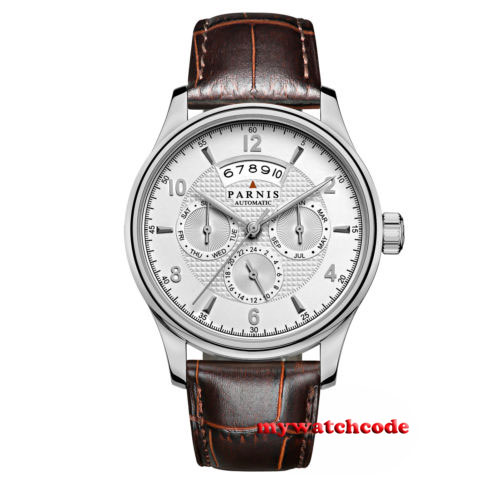 лучшая цена 42mm parnis with dial Sapphire Glass 26 jewels miyota Automatic mens Watch P666B