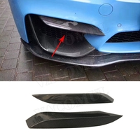 Carbon Fiber Front Splitters Eyebrows Covers Eyelids Trim Stickers for BMW 3 Series F80 M3 4 Series F82 F83 M4 2014 2017