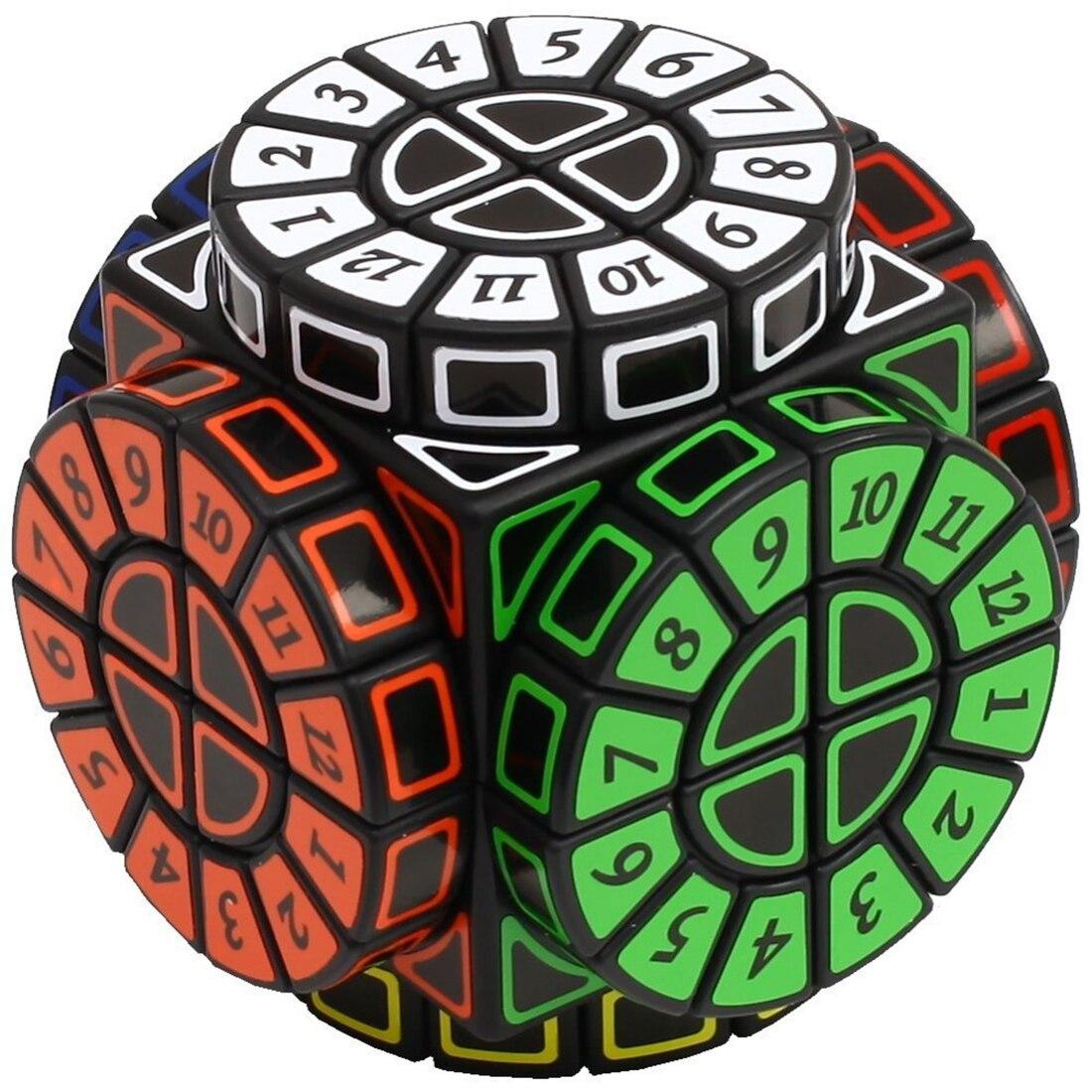 Temps Machine Magique Cube Creative Souvenir Édition Puzzle Jouet-Noir